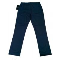 Slim-Fit Gabardine Pants - Navy Blue