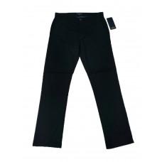 Slim-Fit Gabardine Pants - Black